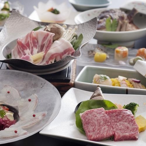 【愛媛の美味しいとこどり♪】<媛三昧>愛媛産鯛・伊予牛・甘とろ豚の愛媛ブランド食材!記念日限定も♪