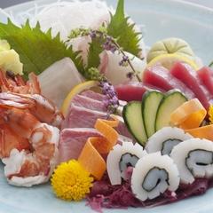 【豪華*旬魚の盛り合せ付】<伊予牛×媛ポークWステーキΨ>県産食材を使用!少し贅沢な道後旅!
