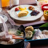 【アーリーチェックアウト】チェックアウト9時まで限定でお得★温まる和朝食&炙りバイキング(朝食付)