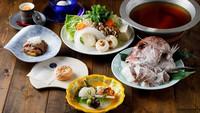 【季節限定プラン/3月〜5月】淡路島の海の幸を贅沢に堪能する『淡路天然真鯛のすき鍋』(夕朝食付)