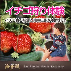 【イチゴ狩り体験】【個室料亭食】イチゴ食べ放題と海幸三昧の会席料理で満腹プラン★