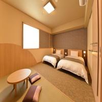◇禁煙◇連泊◇和洋室 ベッド2台+和布団1組