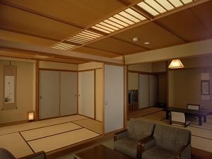 禁煙 12.5+6畳和室部屋食タイプ-リビング付きで眺めよし