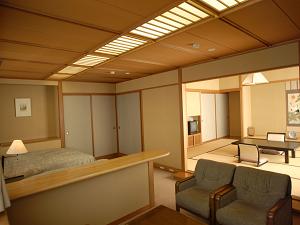 禁煙 12.5畳+ツインベッド+リビング部屋食-眺めも良し