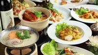◆夏季限定◆【川床・タイ料理】清水五条「佛沙羅館」の選べるメイン&ごはん物など全7品 〜2食付〜
