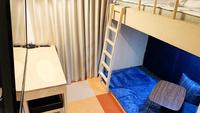【ロフトベッド下段ゆったりスペース】☆使い方はお客様次第♪◇素泊り◇夜間も静か★連泊時清掃無し