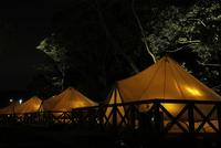 【STD】おしゃれキャンプ『グランピング』【1泊2食BBQ付】ラグジュアリーテント泊〜天然温泉無料〜