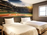 【台湾初登場】野球テーマホテル!部屋は野球風にアレンジ!野球ファンが大歓迎♪朝食付