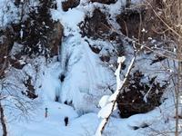 氷瀑の七滝 スノーシュートレッキング・ガイド付きプラン【夕朝食付】