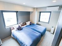 ◆軽朝食付き◆ツインルーム◆セミダブルベッド