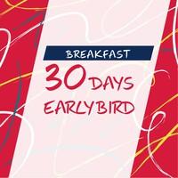 【早期割引】30日前までの予約でお得! 〜朝食付き〜