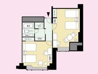 スーペリアフォース 寝室が二つの洋室