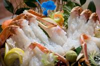 日本海の味覚・津居山ガニを一人1・5杯楽しむ【貸切風呂無料・外湯めぐりパス付】