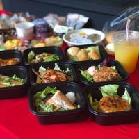 【朝食券付】当館から徒歩3分の提携レストランにて和洋30種以上から選べる朝食弁当!