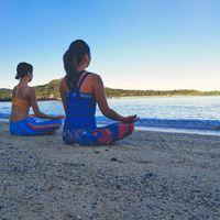 【朝ヨガ体験付き】朝の時間を活用してビーチでヨガ♪一日を最高のスタートで【朝食付】