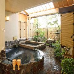 【1日1組ベッド付和洋室】夕食は部屋又個室で♪貸切露天風呂&岩盤浴の無料特典付でリラックス三昧プラン