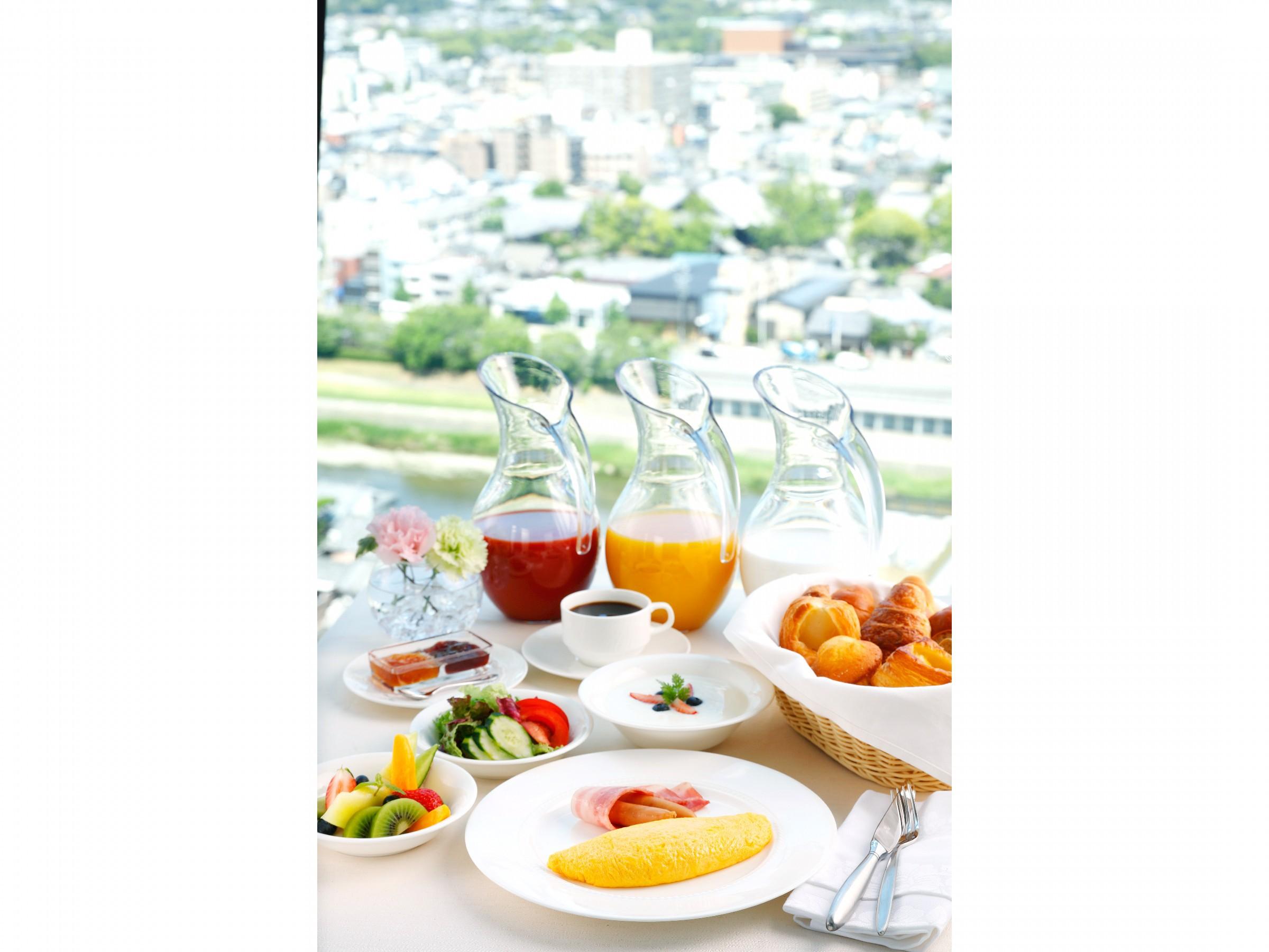 【古都の絶景を眺めながら朝食を〜】 期間限定でお得な朝食付パッケージ