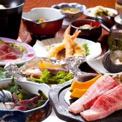 ☆関屋会席宴会プラン☆豊後牛の石焼と飲み放題付 1泊2食