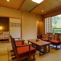 【天然温泉露天&檜内風呂付】和洋スイート(54平米)