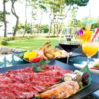 【夏季限定】淡路牛や島の魚介を愉しむ特選バーベキュープラン(二食付)