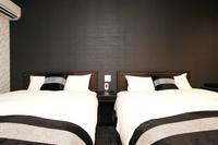 ツインルーム140センチ幅ダブルベッド2台