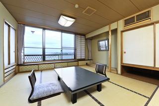 【浜の館】 和室10畳 風呂無 海側(禁煙)