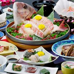 【鳴門鯛を堪能♪】ボリューム満点☆鳴門鯛を味わい尽くす!鯛会席プラン♪≪4名以上で鯛姿造りに!!≫
