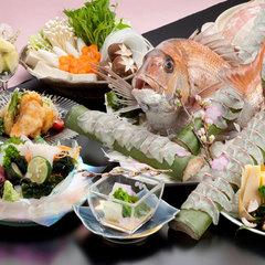 【2〜3月限定!】やわらか新わかめと桜鯛のしゃぶしゃぶ会席♪