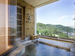 【露天風呂付特別室】最上階角部屋で瀬戸内の絶景を独り占め♪|瀬戸内の旬の特選会席をお部屋で