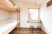 二段ベッドのタイニーハウス「土」