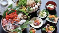 【魚介鍋満喫】身体もぽかぽか!綿善旅館オリジナル新鮮な魚介類と旬の味を盛り込んだ白味噌仕立雅鍋プラン