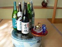 【地酒を3種類飲み比べ☆】会津懐石料理と会津地酒を堪能!源泉貸切風呂付のお部屋でゆったり