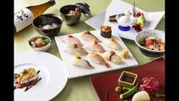 博多牛ステーキや福岡県玄界灘の厳選食材「グレードアップ鮨(すし)コース」プラン(2食付)