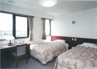 最上階(5階)のツインルーム(洋室) バス・トイレ付