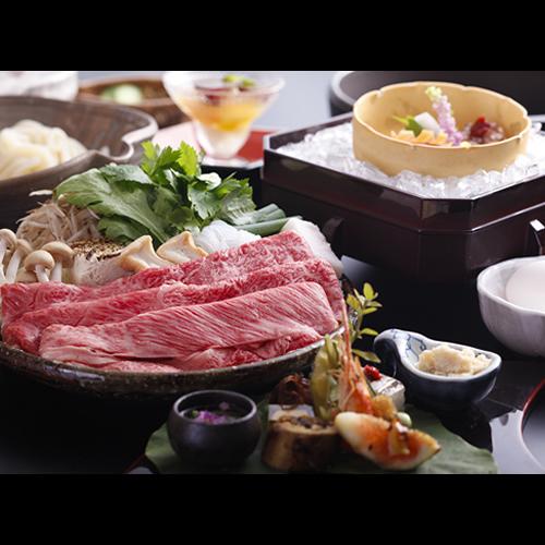 【選べる鍋プラン♪】神戸牛200g付☆牛すき焼き☆≪夕食・朝食共にお部屋食≫