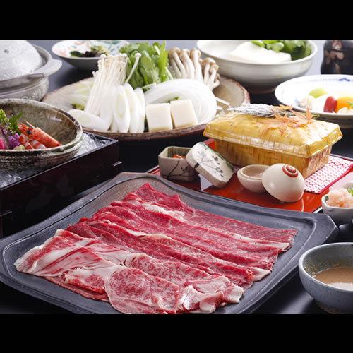 【選べる鍋プラン♪】神戸牛200g付☆牛しゃぶしゃぶ☆≪夕食・朝食共にお部屋食≫