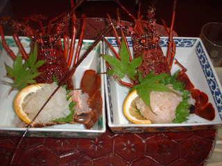 お一人様一匹!伊勢海老丸ごと食べれちゃう!刺身からお味噌汁まで♪新鮮鮮魚舟盛付
