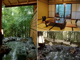 竹林に囲まれた趣のある露天風呂付和室8畳【定員3名・禁煙室】