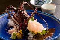 【伊勢海老】伊勢海老のお造りを食べよう☆夕食時お一人様一尾つき〜〆はお味噌汁で〜