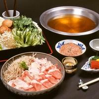 スープが自慢!鶏と豚、京野菜をたっぷり使ったあったか鍋!◆鶏豚ちゃんこ鍋プラン【夕食はお部屋食】