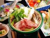 【迷ったらコレ】★茜宿スタンダードプラン★豚すき焼き・岩魚などほっかほか郷土料理を満喫