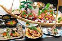 【1ランクアップ】和室で海鮮料理(伊勢海老鬼殻焼き付き)