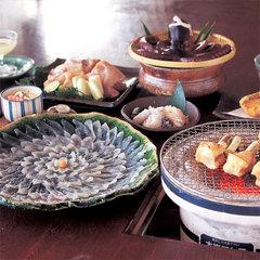 ふぐ魚醤焼コース+絶品【焼き白子&てっちり】付き!≪味わいコース≫