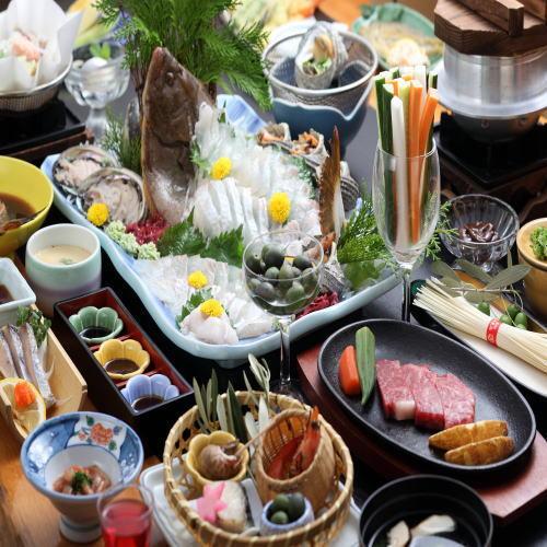 【夏】【オリーブ牛×アワビ×地魚】島の味覚を詰め込んだ夏休みご馳走プラン《個室食》