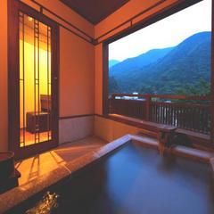 〓露天風呂から箱根連山が見える特別室〓 露天風呂付客室「そよぎの間」■夕食・朝食共お部屋食で♪■