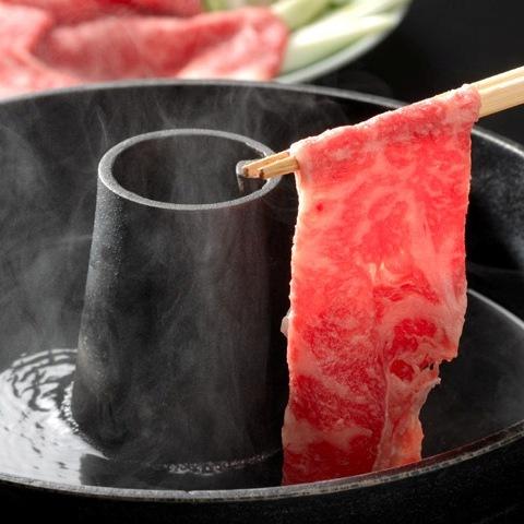 極上山形牛至福しゃぶしゃぶプラン(しゃぶしゃぶに、牛握りと陶板焼きステーキ付き!)