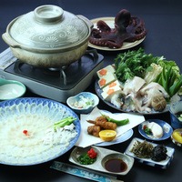 贅沢な冬の味わい★本場の日間賀島でふぐを食らう!ふぐスタンダードコース♪