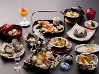 【さき楽55】<グランドプレミアム>露天風呂付客室 特選懐石料理を味わう贅沢プラン(1泊2食付)
