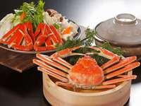 【冬といえば蟹☆】笑顔で卓を囲んで蟹料理をご堪能下さいませ!★うる肌温泉で心も身体もリラックス