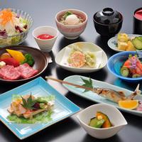 【楽天スーパーSALE】10%OFF!【琥珀コース】<メインは肉&魚料理>厳選食材の和会席&天然温泉